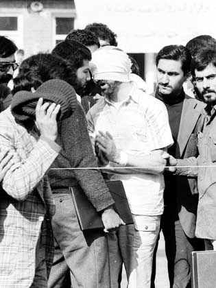 Ahmadinejad looking at the camera