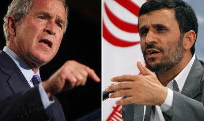 Bush and Ahmadinejad