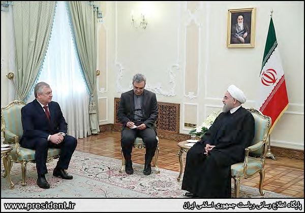 Iranian President Rouhani and Alexander Lavrentiev